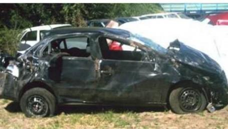 Dos muertos al volcar sobre Ruta 27, cerca de Lavalle