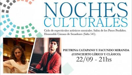 Noches Culturales de  música clásica y lírica