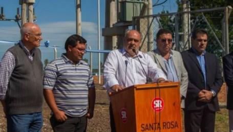 Colombi inauguró la Estación Transformadora en Santa Rosa