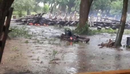 Caá Catí: hay unos 80 evacuados por lluvias