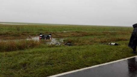 Ruta provincial Nº5: Despiste y vuelco con tres muertos