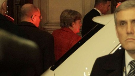 Angela Merkel llegó a la Argentina