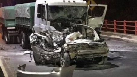 Accidente fatal en el puente: el auto había sido robado