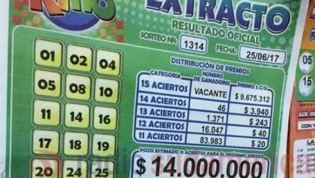 Correntino ganó $14 millones y otros premios en el Telekino
