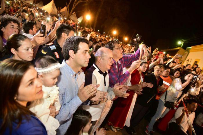 Canteros acompañó la celebración del aniversario de Santa Ana