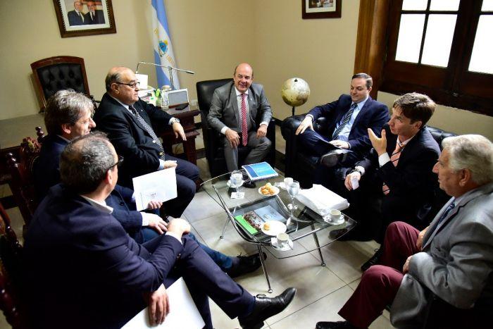 Agenda de cooperación: Canteros y Vischi recibieron al Presidente de la DAIA