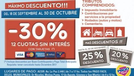 Activan los descuentos del 30% y 12 cuotas para el Pago Anual Anticipado