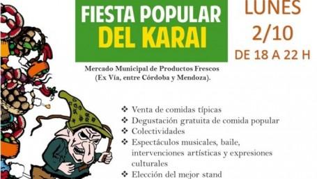 Municipio realizará hoy la Fiesta del Karaí Octubre