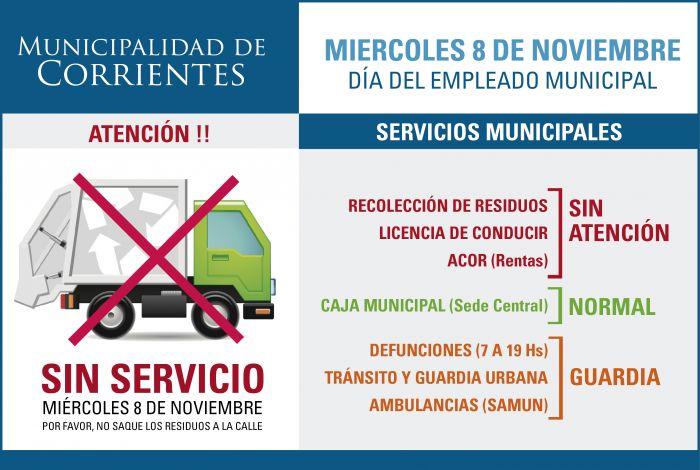 """Hoy no habrá recolección por el """"Día del Empleado Municipal"""""""