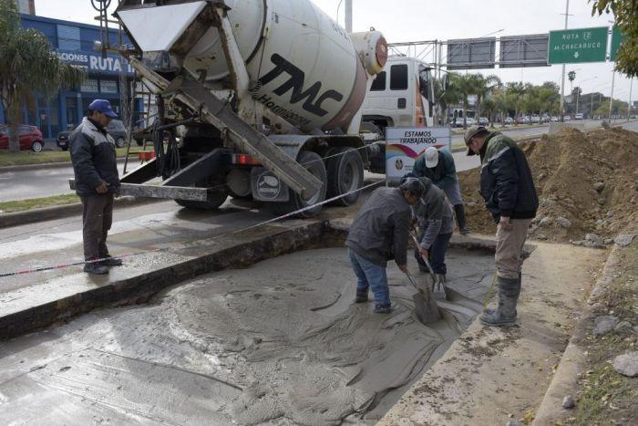 Continúan los trabajos de bacheos en el corredor Belgrano