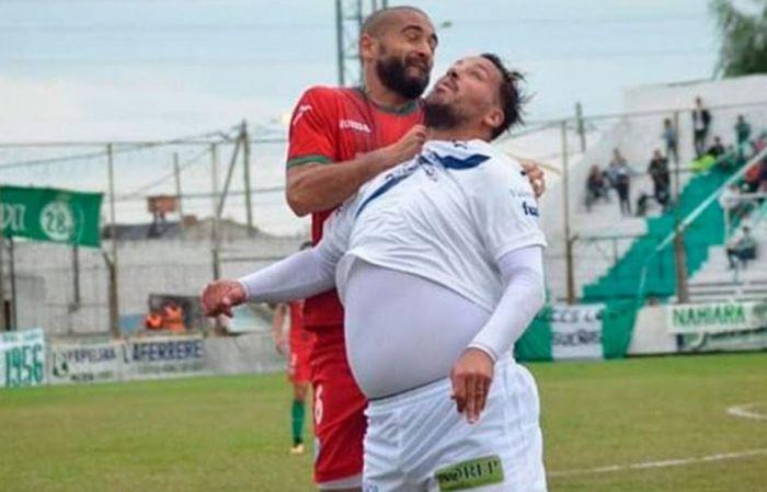 La foto de Fabbiani que se hizo viral por su barriga