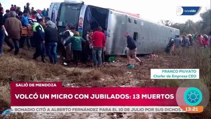 Un ómnibus volcó en Tucumán: 16 personas muertas y numerosos heridos