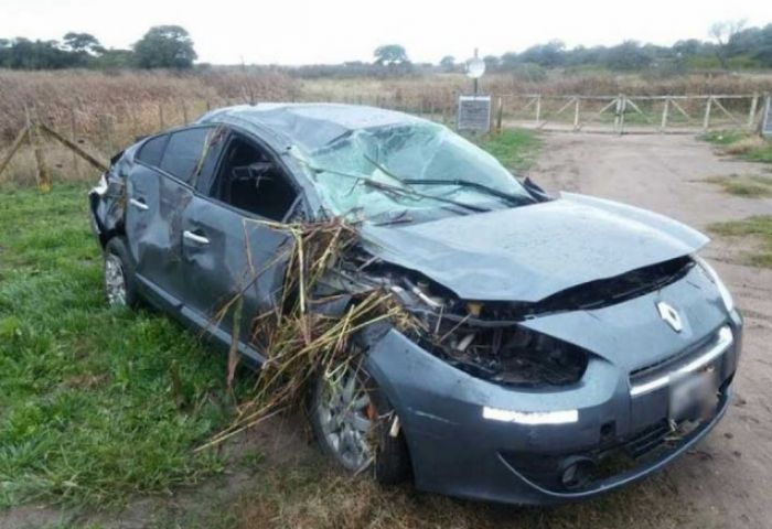 Dos muertos al volcar un auto en la ruta nacional 123