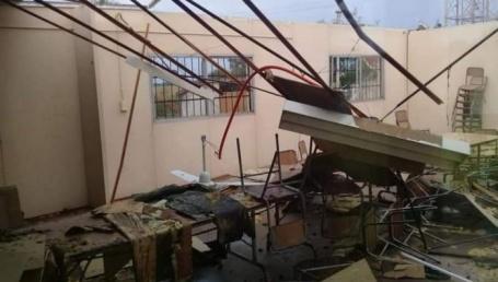 El temporal generó destrozos y el derrumbe de una escuela en un paraje de Corrientes